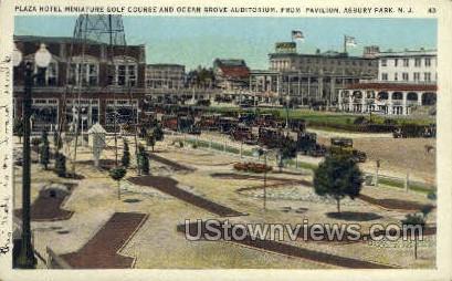 Plaza Hotel, Pavilion - Asbury Park, New Jersey NJ Postcard