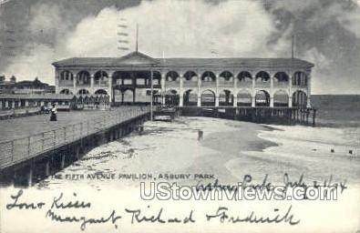 Fifth Ave Pavillion - Asbury Park, New Jersey NJ Postcard