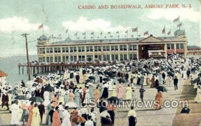 Casino & Boardwalk - Asbury Park, New Jersey NJ Postcard