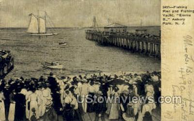 Fishing Pier, Emma B. - Asbury Park, New Jersey NJ Postcard