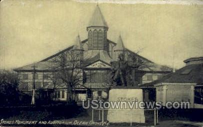 Stokes Monument & Aud - Ocean Grove, New Jersey NJ Postcard