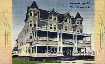 Seaside Hotel - Ocean Grove, New Jersey NJ Postcard