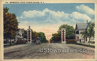Memorial Gate - Ocean Grove, New Jersey NJ Postcard