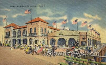 Municipal Music Pier - Ocean Grove, New Jersey NJ Postcard