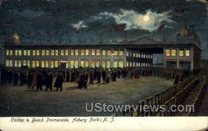 Casino & Beach Promenade - Asbury Park, New Jersey NJ Postcard