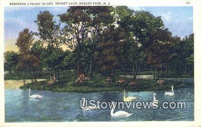 Robinson Crusoe Island - Asbury Park, New Jersey NJ Postcard