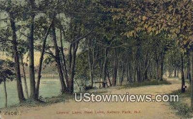 Lover's Lane, Deal Lake - Asbury Park, New Jersey NJ Postcard