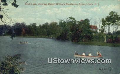 Deal lake, Daniel O'Days' Residence - Asbury Park, New Jersey NJ Postcard