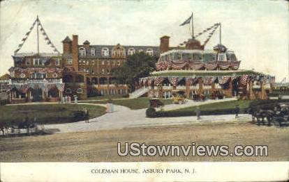 Coleman House - Asbury Park, New Jersey NJ Postcard