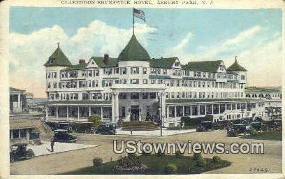 Clarendon Brunswick Hotel - Asbury Park, New Jersey NJ Postcard