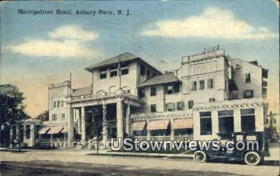 Metropolitan Hotel - Asbury Park, New Jersey NJ Postcard