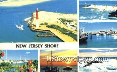Barnegat Lighthouse - New Jersey Shore Postcards, New Jersey NJ Postcard