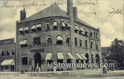 Post Office - Asbury Park, New Jersey NJ Postcard