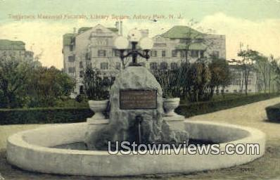 Tenbroeck Memorial Fountain - Asbury Park, New Jersey NJ Postcard