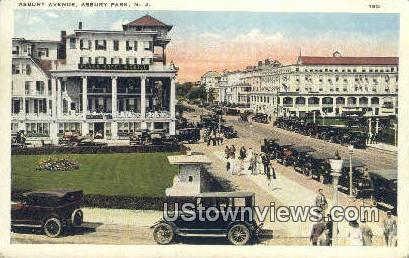Asbury Ave - Asbury Park, New Jersey NJ Postcard