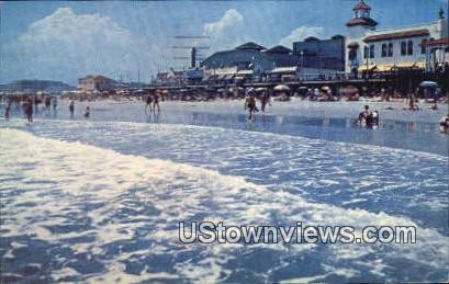 Boardwalk & Rolling Surf - Ocean City, New Jersey NJ Postcard