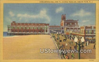 Convention Hall & 7th Ave Pavilion - Asbury Park, New Jersey NJ Postcard