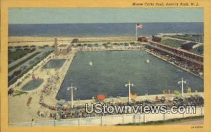 Monte Carlo Pool - Asbury Park, New Jersey NJ Postcard