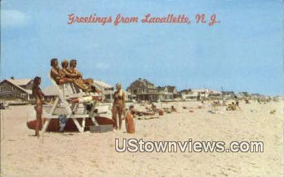 Lifeguard Station - Lavallette, New Jersey NJ Postcard