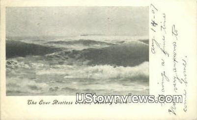 Restless Ocean - Asbury Park, New Jersey NJ Postcard