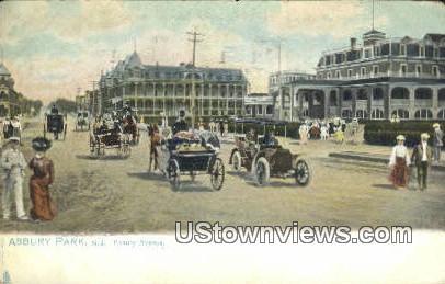 Asbury Avenue - Asbury Park, New Jersey NJ Postcard
