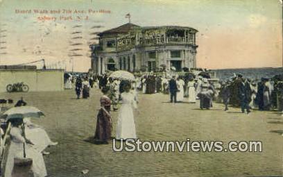 Boardwalk, Pavilion - Asbury Park, New Jersey NJ Postcard