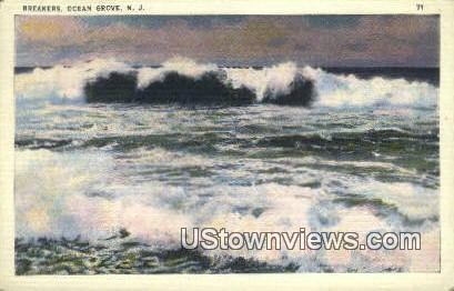 Breakers - Ocean Grove, New Jersey NJ Postcard