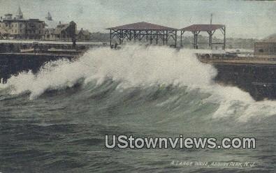 Large Wave - Asbury Park, New Jersey NJ Postcard