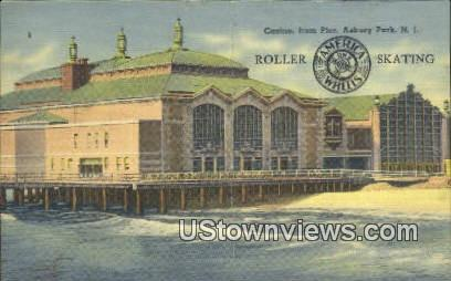 Casino, Pier, Roller Skating - Asbury Park, New Jersey NJ Postcard