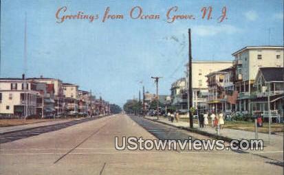 Main Ave - Ocean Grove, New Jersey NJ Postcard