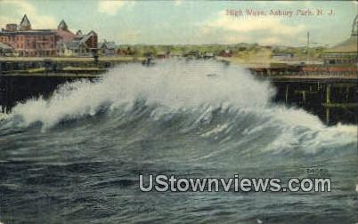 High Wave - Asbury Park, New Jersey NJ Postcard