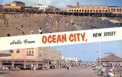 Ocean City, New Jersey     ;     Ocean City, NJ Postcard