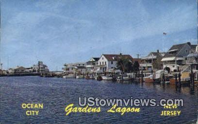 Gardens Lagood - Ocean City, New Jersey NJ Postcard