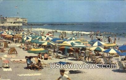 Bathing Beach - Ocean City, New Jersey NJ Postcard
