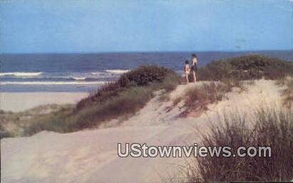 Sand Dunes & Ocean - Ocean City, New Jersey NJ Postcard