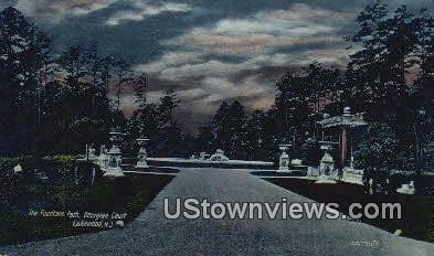 Fountain Parh, Georgian Court - Lakewood, New Jersey NJ Postcard