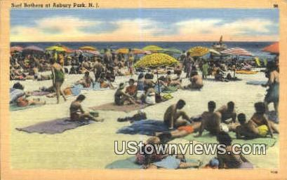 Surf Bathers - Asbury Park, New Jersey NJ Postcard