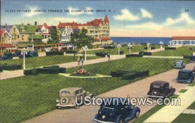 Ocean Pathway - Ocean Grove, New Jersey NJ Postcard