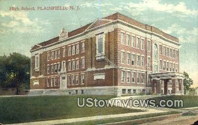 High School, Plainfield - New Jersey NJ Postcard
