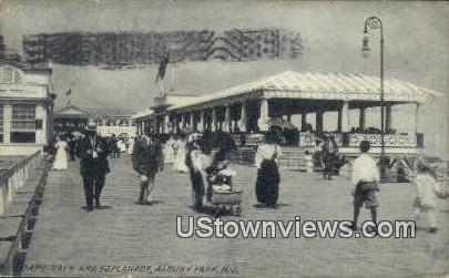 Boardwalk & Esplande - Asbury Park, New Jersey NJ Postcard