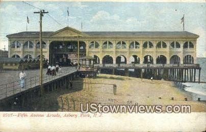 Fifth Ave Arcade - Asbury Park, New Jersey NJ Postcard