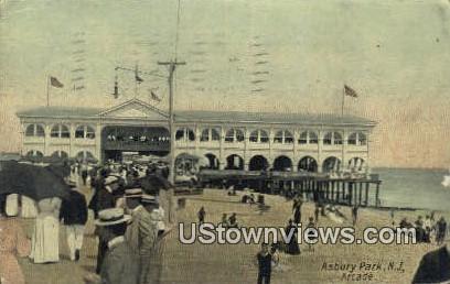 Arcade - Asbury Park, New Jersey NJ Postcard