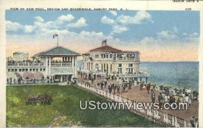 New Pool, Boardwalk - Asbury Park, New Jersey NJ Postcard