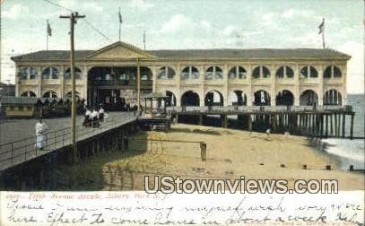 Fifth Ave Arcade - Asbury Park, New Jersey NJ Postcard