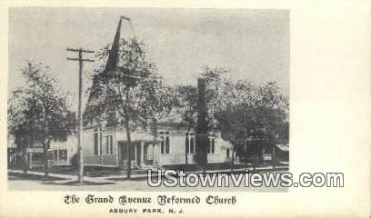 Grand Avenue Reformed Church - Asbury Park, New Jersey NJ Postcard