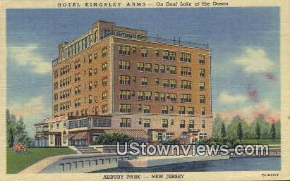 Hotel Kingsley Arms - Asbury Park, New Jersey NJ Postcard