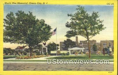 World War Memorial - Ocean City, New Jersey NJ Postcard
