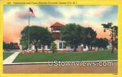 Tabernacle & Camp Meeting Grounds - Ocean City, New Jersey NJ Postcard