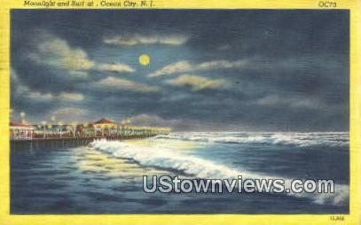 Ocean City, NJ     ;     Ocean City, New Jersey Postcard