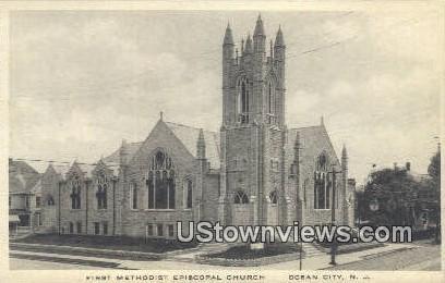 First Methodsit Episcopal Church - Ocean City, New Jersey NJ Postcard